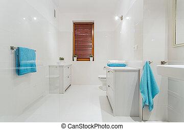 白色, 浴室