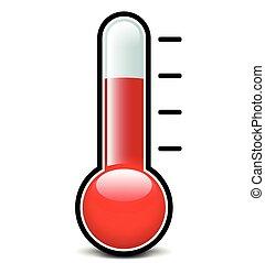 白色, 温度计, 背景, 图标