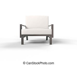 白色, 現代, 扶手椅子