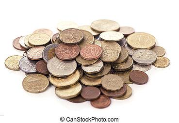 白色, 硬币, 背景