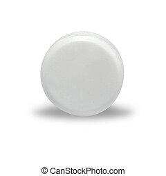 白色, 空白, 药丸, 绕行