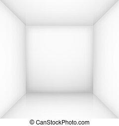 白色, 空的房間