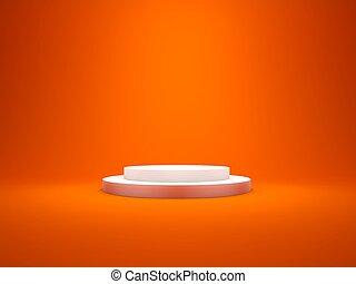 白色, 空, 柱腳, 由于, 光, 被隔离, 上, 紅的背景