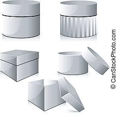 白色, 箱子, 彙整