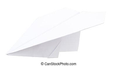 白色, 紙飛机