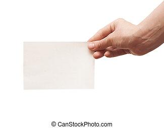 白色, 紙, 藏品, 空, 手