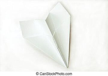 白色, 紙, 被隔离, 飛機
