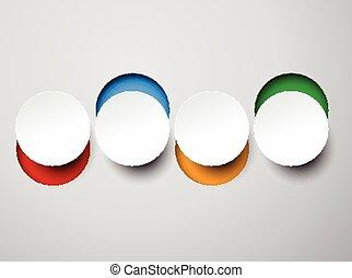 白色, 紙, 輪, 筆記。