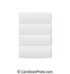 白色, 紙, 陰影