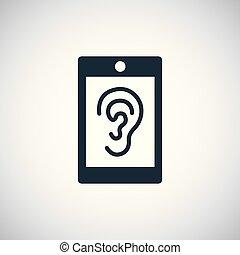 白色, 耳朵, smartphone, ui, 背景, 网, 图标