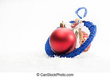 白色, 聖誕節, 裝飾, 由于, 模仿空間