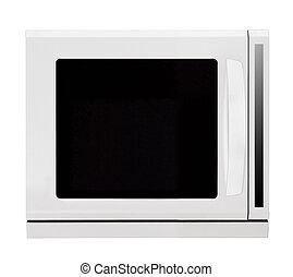 白色 背景, 被隔离, 烤爐, 微波