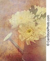 白色, 花束, 花, 在, 噴壺