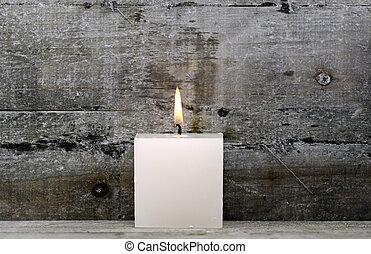 白色, 蠟燭