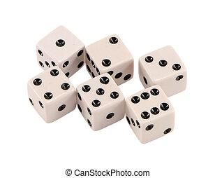 白色, 賭博, 骰子, 增加, 序列, 被隔离
