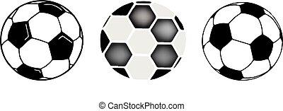 白色, 足球, 背景, 图标
