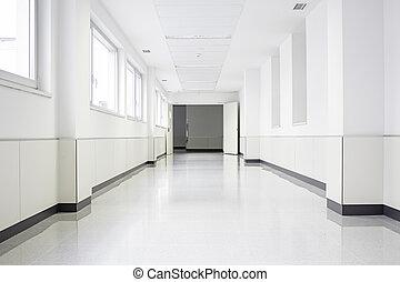 白色, 醫院, 大廳