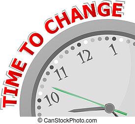 白色, 鐘, 由于, 詞, 時間, 為, 變化, 上, 它, 臉