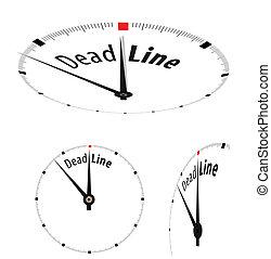 白色, 鐘, 由于, 詞, 最終期限, 上, 它, 臉