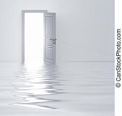 白色, 門