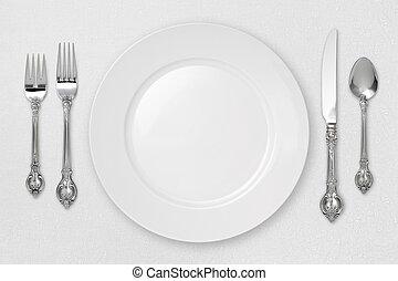 白色, 餐具
