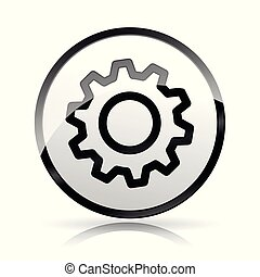 白色, 齿轮, 背景, 图标