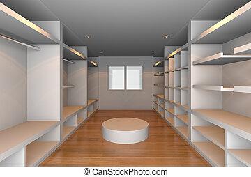 白色, walk-in, 壁櫥
