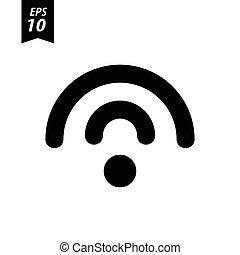 白色, wifi, 背景, 图标
