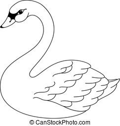 白鳥, 着色, ページ