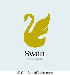 白鳥, 飛行, 贅沢, 単純である, ミニマリスト, ロゴ
