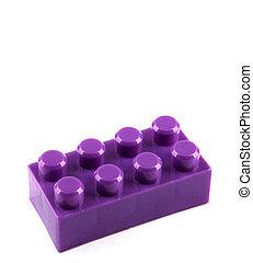 白, おもちゃのブロック, 背景, プラスチック