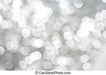 白, きらめく, 抽象的, 背景