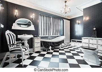 白, そして, 黒, 現代, 浴室