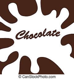 白, はね返し, チョコレート