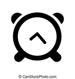 白, アイコン, 隔離された, 背景, 時計