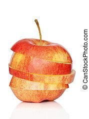 白, アップル, 隔離された