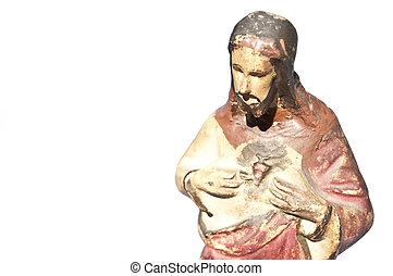 白, イエス・キリスト, 像, 隔離された