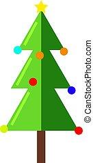 白, イラスト, クリスマスツリー, ベクトル, バックグラウンド。