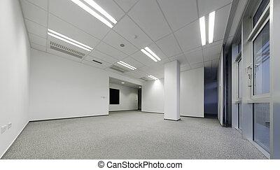 白, オフィスを空にしなさい