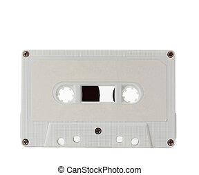白, オーディオ, テープ