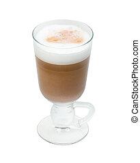 白, カプチーノ, cup.coffee