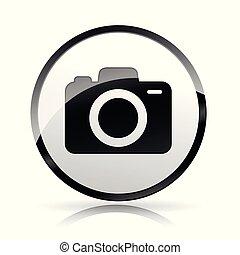 白, カメラ, 背景, アイコン