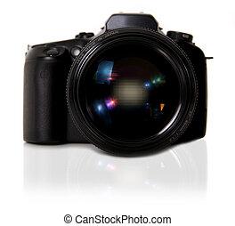白, カメラ, dslr, 背景