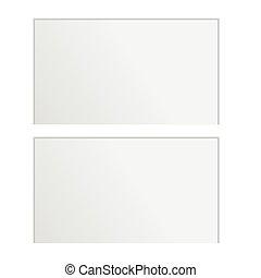 白, カード, 背景, ブランク