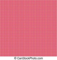 白, ギンガム, 赤