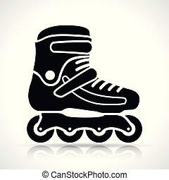 白, スケート, ローラー, 背景