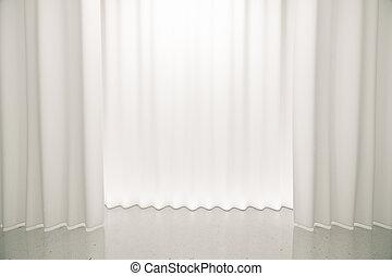 白, ステージ, 滑らかである, 現場, 床