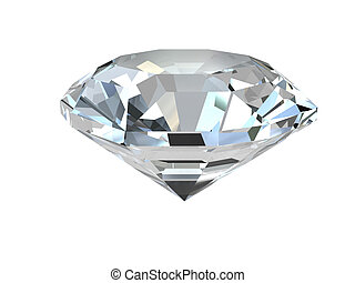 白, ダイヤモンド, 隔離された