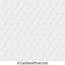 白, ハチの巣, パターン, 上に, グレーのバックグラウンド
