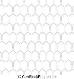 白, ハチの巣, パターン, 背景